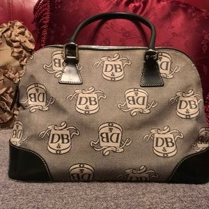 Vintage Dooney & Bourke Black/Grey Donegal Crest